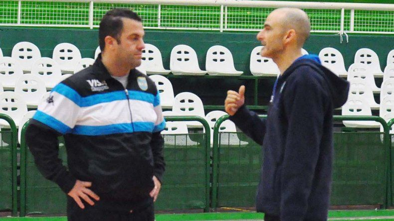 Silvio Santander junto a su asistente Gabriel Picatto.