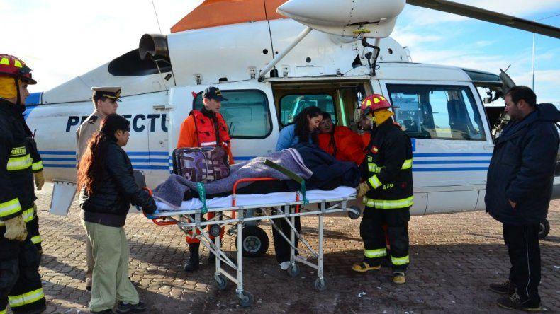 Prefectura evacuó de urgencia a un marinero