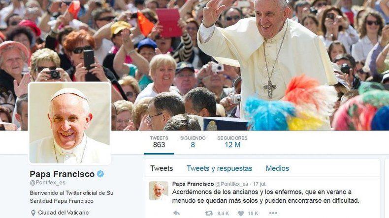 Francisco ya tiene más de 30 millones de seguidores en Twitter