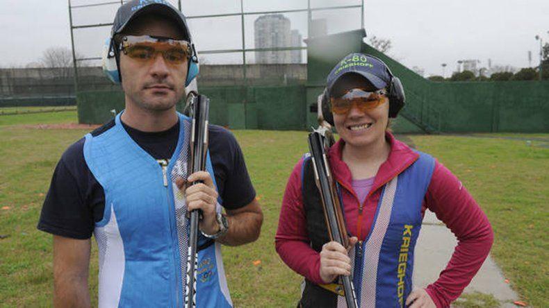 Los hermanos Federico y Melisa Gil participarán en la modalidad Skeet.