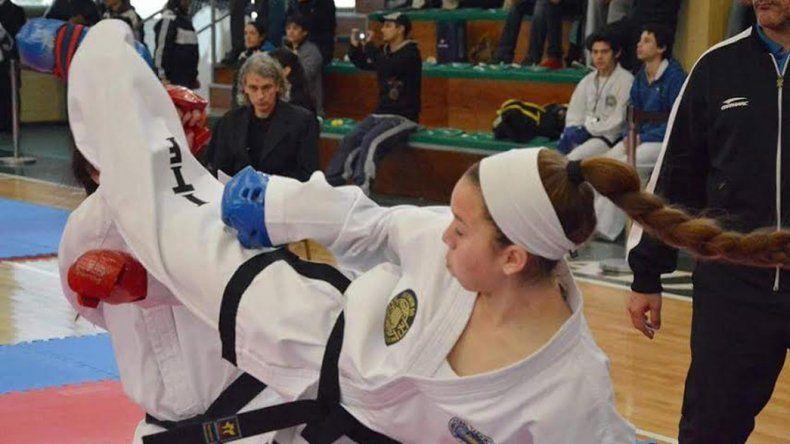 Leila Ramos en una de las competencias que le tocó afrontar.
