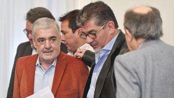 Das Neves con el diputado Taboada. En Provincia hay preocupación por eventuales medidas del gobierno de Macri que perjudicarían más la economía regional.