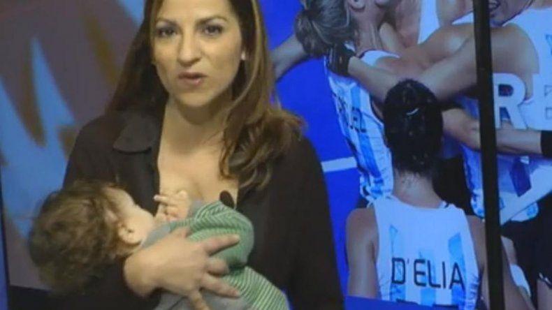 Conductoras de un noticiero patagónico amamantaron en vivo