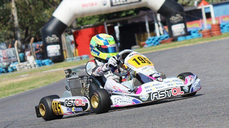 Lorenzo Astiz fue protagonista en la Copa Rotax y descontó terreno en el campeonato.