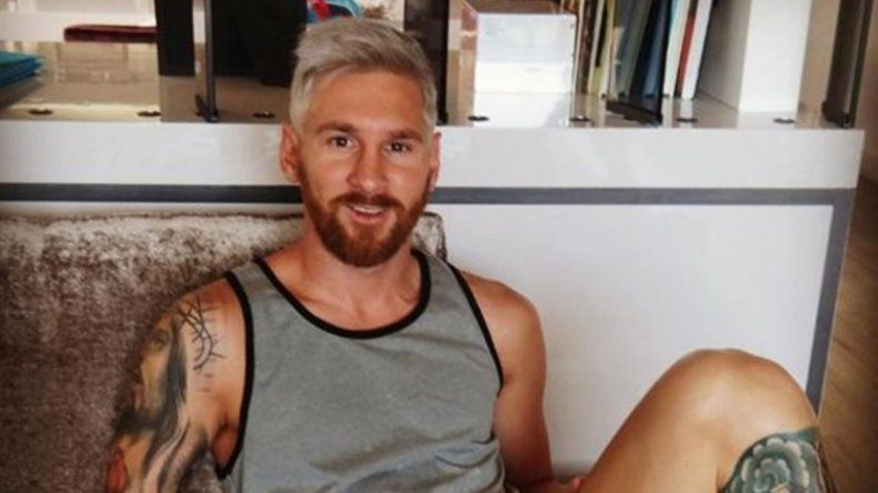 El nuevo look del crack argentino Lionel Messi.