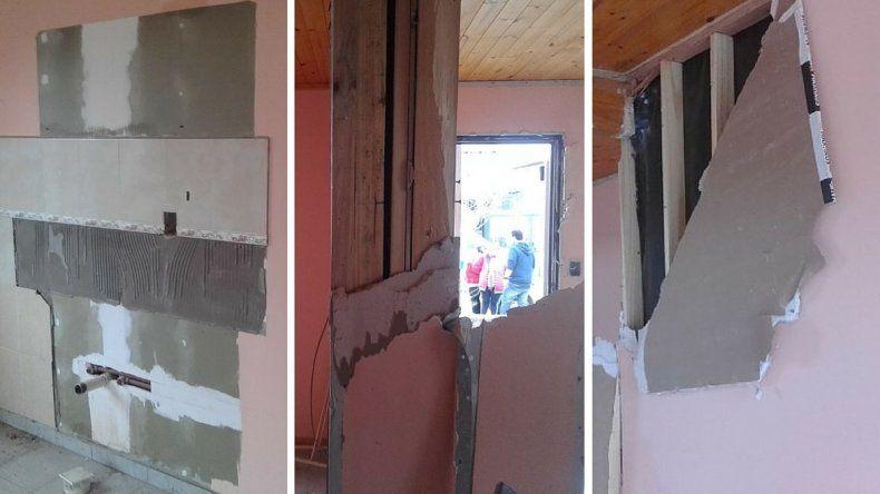 Policía destrozó la casa que debía cederles a su ex mujer e hijo