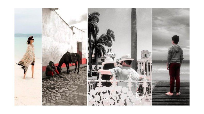 El viaje a Cuba de Celeste Cid embarazada junto a su hijo André