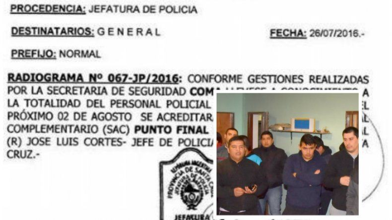 Policías aceptan el 2 de agosto como fecha definitiva para el pago del SAC