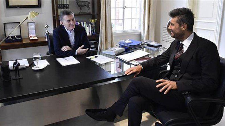 Mauricio Macri recibió al famoso conductor televisivo.