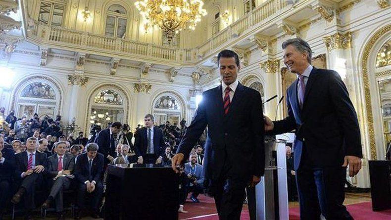 Macri y Peña Nieto hablaron sobre un posible acuerdo de libre comercio
