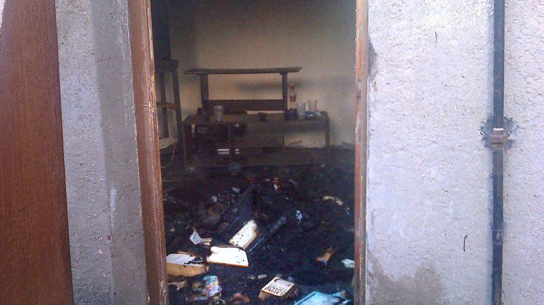 La habitación que fue consumida por las llamas.
