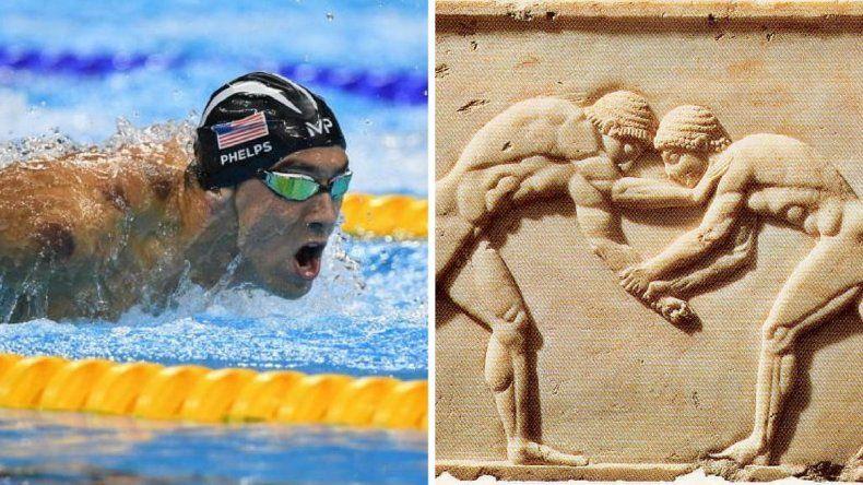 Phelps iguala el récord olímpico de un mito griego