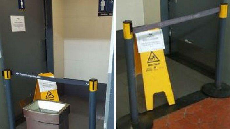 El municipio labró un acta por los baños clausurados