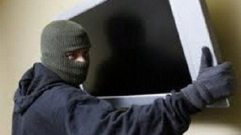 Lastimó a una anciana para robarle un televisor y lograron detenerlo