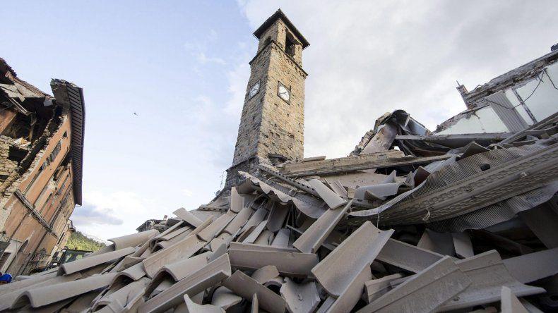 Casas destruidas en Amatrice.