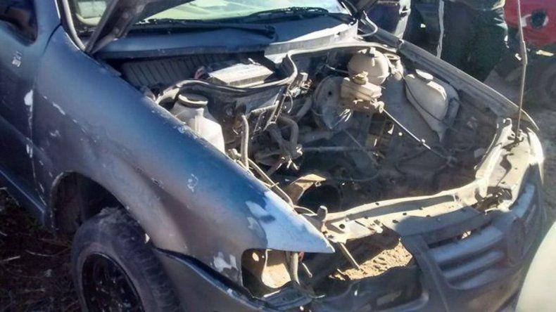 El estado en el que Antonio Arroyo encontró su vehículo en el corralón municipal.
