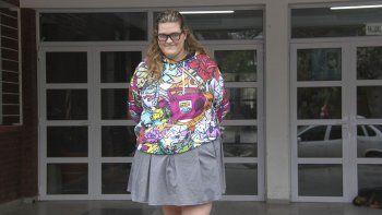 Serena Liechti, cursa el último año en el colegio Gobernador Juan José Silva de la capital formoseña.