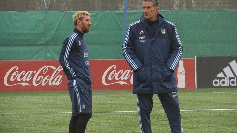 Messi llegó al país y estuvo en el predio de Ezeiza