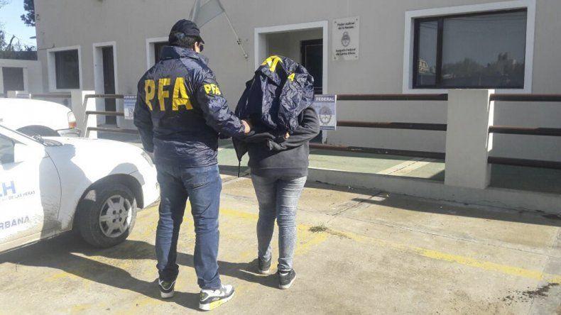 Uno de los detenidos que accedió a prestar declaración indagatoria en el Juzgado Federal de Caleta Olivia. Posteriormente