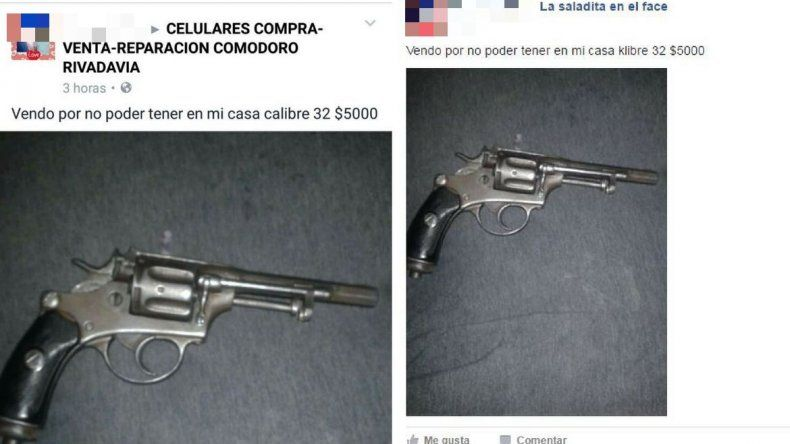 Preocupación por la venta ilegal de armas en redes sociales