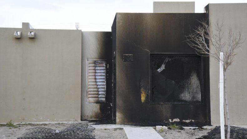 La vivienda que fue baleada