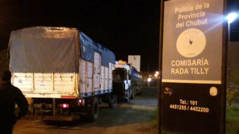 Los camiones se encuentran secuestrados en la Comisaría de Rada Tilly
