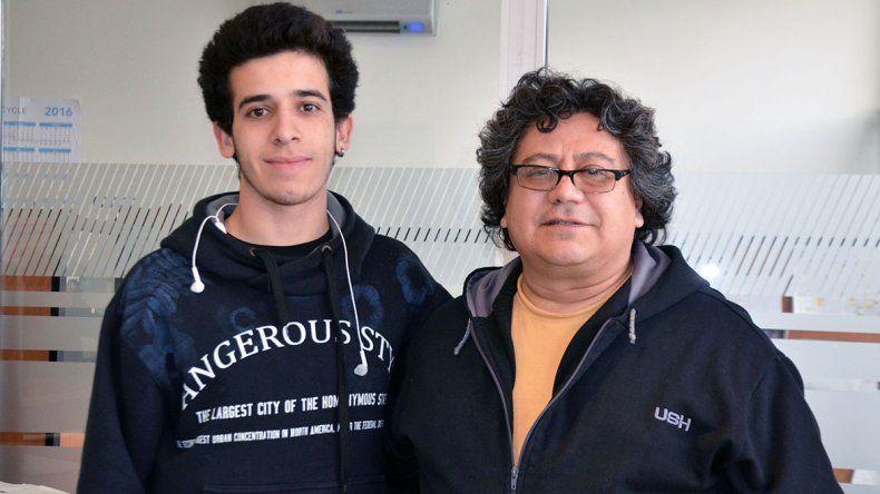 Franco Berro es uno de los alumnos de la Escuela 760 que viajará junto al jefe de Taller
