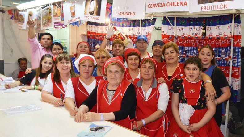 El stand del Centro de Residentes Chilenos.