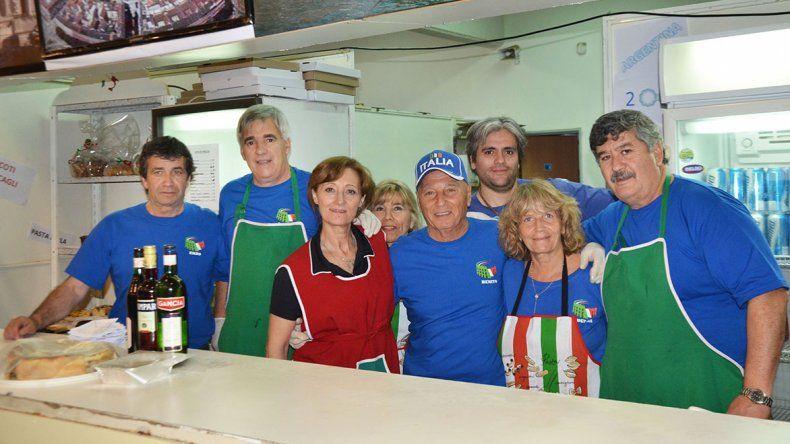 El stand de la Colectividad Italiana.
