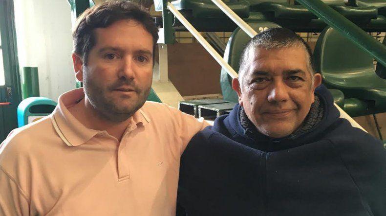 El ingeniero Andrés Luz Clara junto a Juan Torres
