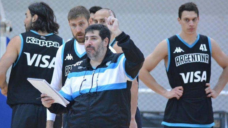 García durante un entrenamiento de la selección argentina
