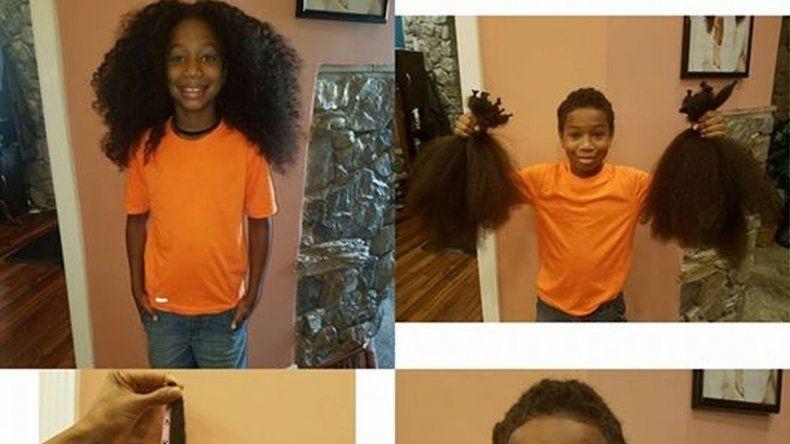 Dejó crecer su pelo para donarlo a enfermos de cáncer