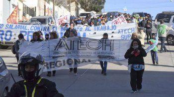 docentes se manifiestan en contra de la criminalizacion de la protesta social