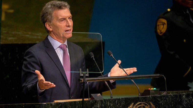 Macri habló por primera vez ante la Asamblea General de las Naciones Unidas.