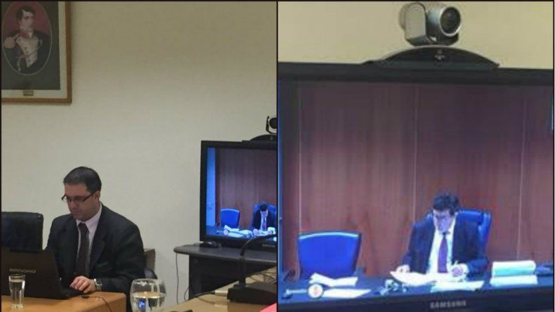 Declararon testigos que viven en España a través de videoconferencia