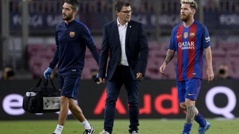 Messi se desgarró y peligra su participación en la selección