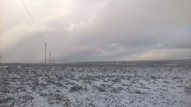 Nieve en primavera: mirá el video registrado en Manantiales Behr
