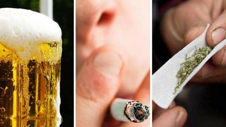 Alcohol, tabaco y cannabis lo más consumido por menores
