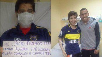 Tevez le cumplió el sueño a un chubutense que espera un transplante de medula
