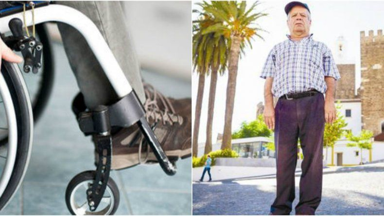 Pasó 43 años en una silla de ruedas por un diagnóstico equivocado