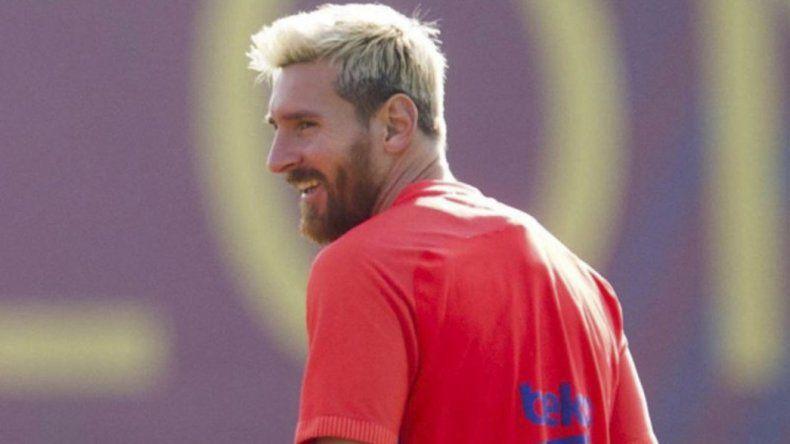 Messi volvió al campo de juego para  realizar trabajos de recuperación