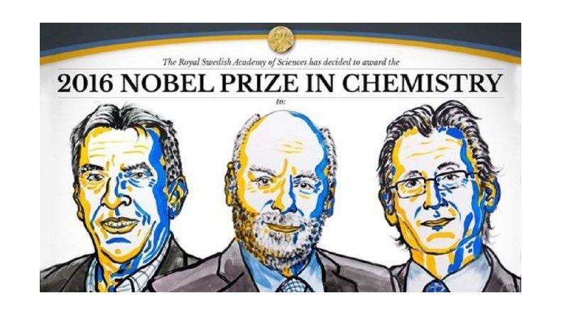 El premio Nobel de Química 2016 fue para Sauvage, Stoddart y Feringa