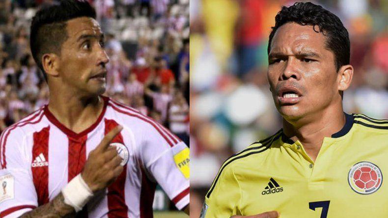 El argentino Lucas Barrios podría estar en la delantera paraguaya esta  noche - Carlos Bacca es el goleador de Colombia junto a James Rodríguez