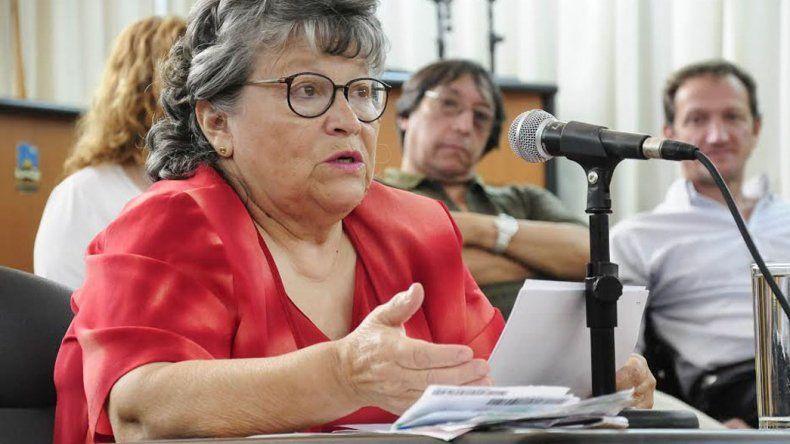 La presidenta de la vecinal de Restinga Alí