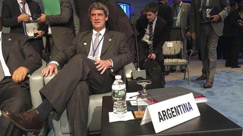 Prat-Gay en la Asamblea Anual conjunta del FMI y Banco Mundial.