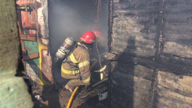 Se incendió un galpón en Palazzo: sólo hubo pérdidas materiales