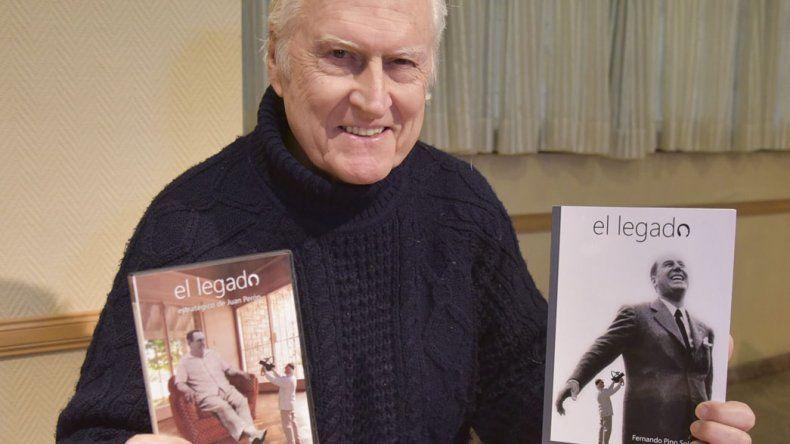 El cineasta y senador nacional Fernando Pino Solanas estuvo en Caleta Olivia para presentar la compaginación de su último trabajo documental referido a El legado estratégico de Juan Perón