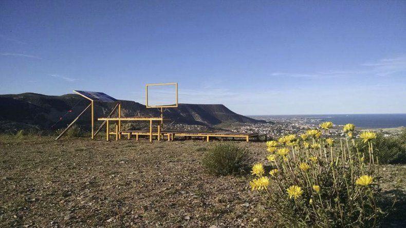 Amigos del Cerro pusieron un mirador en el cerro Viteaux