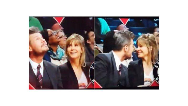 Marcelo Tinelli y Guillermina Valdés se animaron a la KissCam