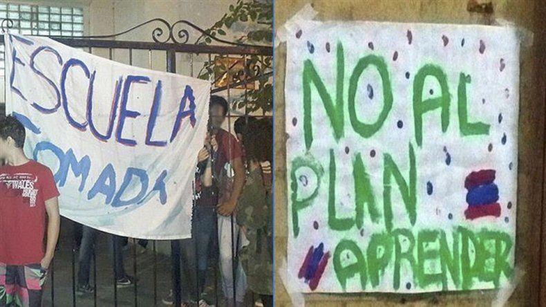 En algunas ciudades tomaron colegios en protesta contra el operativo Aprender 2016.